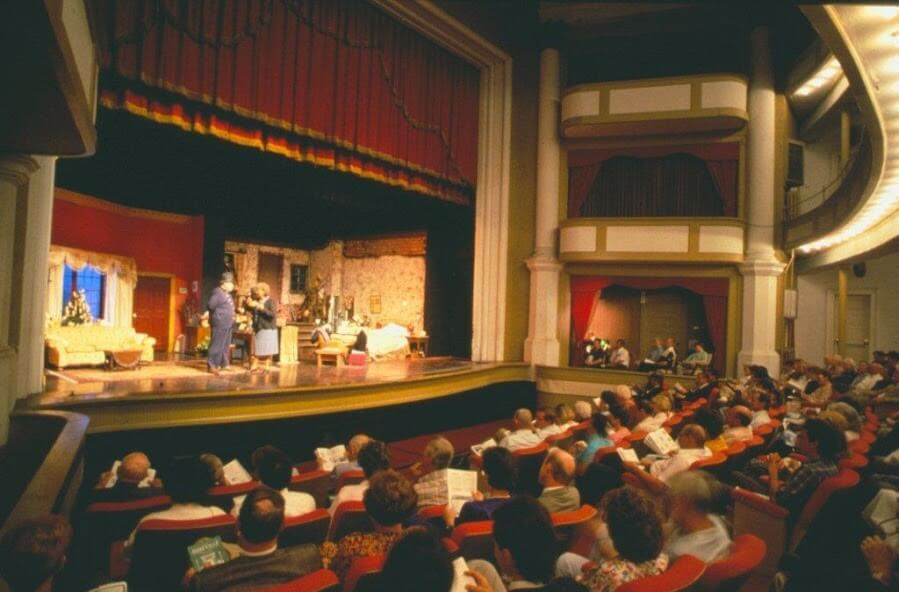 Abbeville Opera House Stage performance with audience