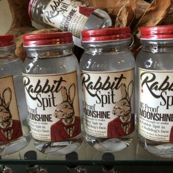rabbit spit moonshine from Carolina moon distillery