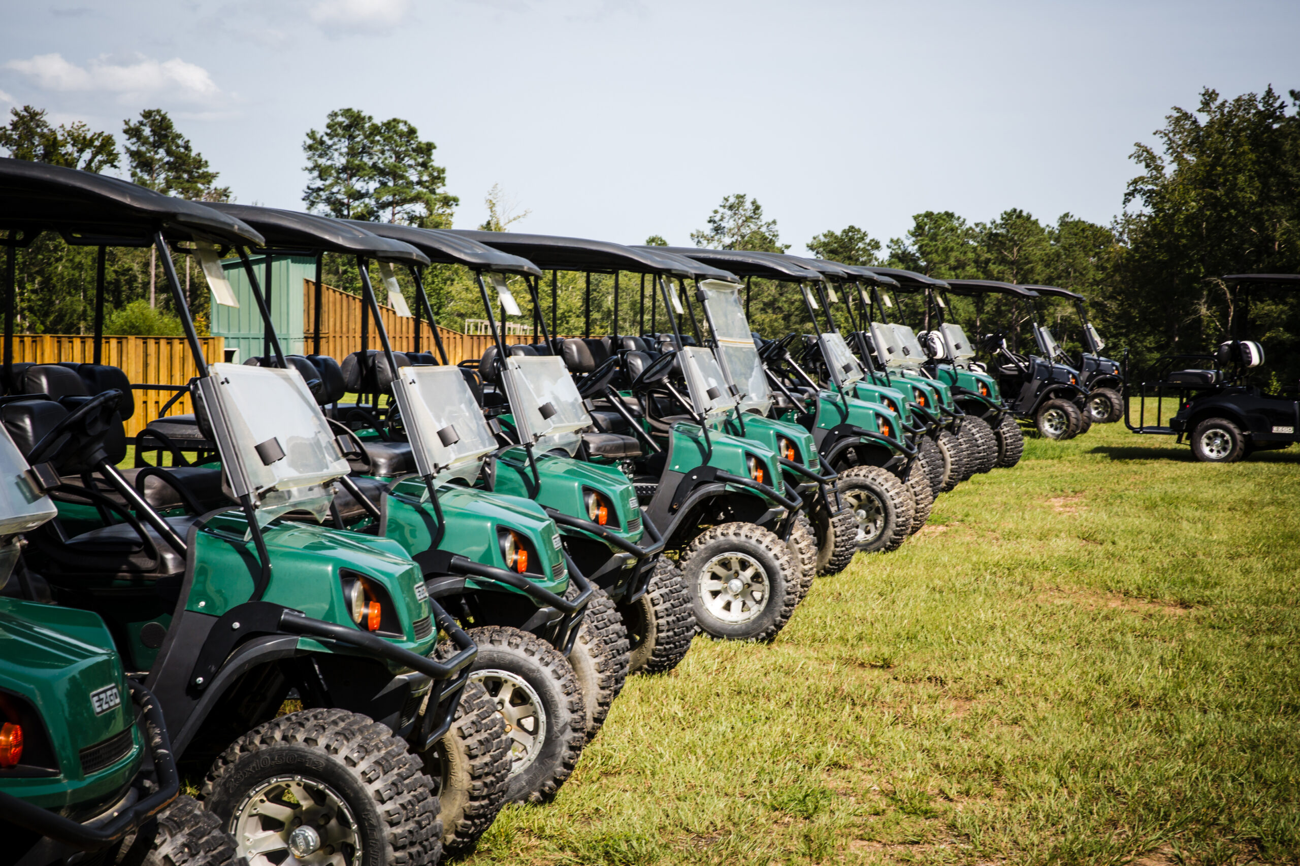 golf carts at the palmetto shooting complex